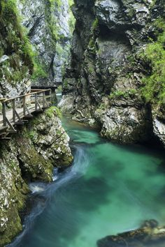 The Vintgar Gorge - Slovenia | Along the narrow passage, where the Radovna river thrashes loudly against its rocky confines, there are paths, galleries and bridges constructed in the rock. The trail runs through the 1600 m long gorge...
