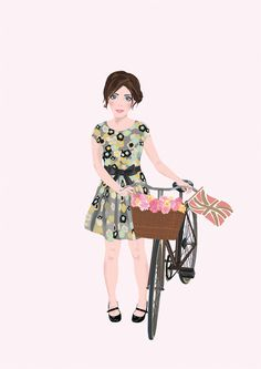 Dahlia Fashion Boutique - Character design by Kate Webster, via Behance