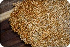 or brittle for short) Sesame Seed Toffee Snaps (.or brittle for short) - All. Sesame Seeds Recipes, Mexican Market, Chocolate Toffee, Just Eat It, Mixed Nuts, Non Stick Pan, Golden Color, Candy Recipes, Original Recipe