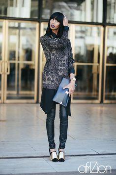 Location: New York. Street Style Photographed by Avaloni... - BlackFashion