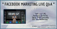 Get Your Facebook Marketing Question Answered Tonight @ 9PM EST. = = > Click…