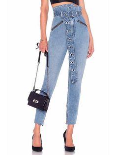 Dooerzi High Waist Jeans Pants Bottoms Backless Maxi Dresses, Plus Size Maxi Dresses, Maxi Shirt Dress, Maxi Dress With Sleeves, Jeans With Heels, Curvy Jeans, Long Sleeve Mini Dress, High Waist Jeans, Jeans Pants