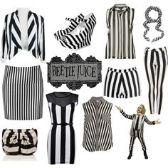 Beetlejuice, created by prettylittlelayers on Polyvore
