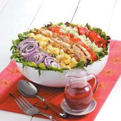 Strawberry Chicken Salad (layered like a cobb).  Excellent!