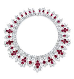 ruby and diamond necklace, by Harry Winston More