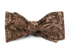 TUDOR PAISLEY BOW TIES - CHOCOLATE BROWN | Ties, Bow Ties, and Pocket Squares | The Tie Bar