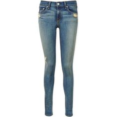 Rag & Bone The Skinny Distressed Jeans (£215) ❤ liked on Polyvore