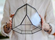Plant Pots – Large Crystal Glass Geometric Terrarium – a unique product by SimonMag on DaWanda