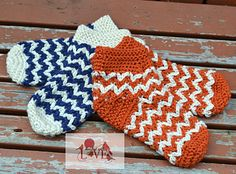 Chevron Illusion Slippers #crochet #pattern from @hatchedwithlove