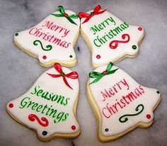 images of chirstmas bell cookies | Christmas bell cookies (pic only) | Christmas Food & Treats