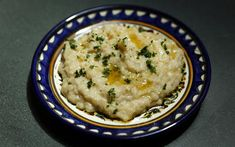 Flame-roasted eggplant spread with lemon and garlic