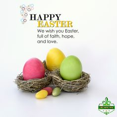 Happy Easter: We wish you Easter, full of faith, hope, and love. Happy Easter, Hemp, Cleaning Hacks, Faith, King, Business, Interior, Food, House