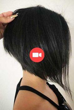 Pin on anami ♡♤ Short Shag Hairstyles, Stacked Bob Hairstyles, Bob Hairstyles For Fine Hair, Angled Bob Haircuts, Modern Haircuts, Medium Hair Styles, Short Hair Styles, Styles Bob, Bob Haircut For Girls