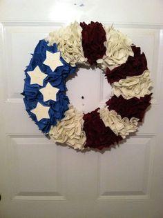 18 Patriotic WreathAmericana Felt by ElsiesCreativeDesign on Etsy