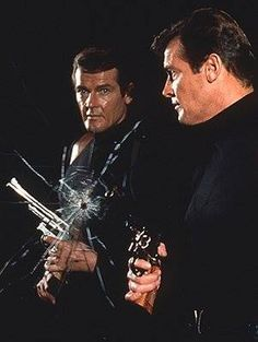 Roger Moore as James Bond Actors, James Bond Movies, Bond Series, Pierce Brosnan, Roger Moore, Tough Guy, Portraits, Retro, Movie Tv