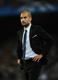 Pep Guardiola one of greatest coaches of all time, 13 trophies for Barcelona in 4 years, chance for one more before he leaves. Pep Guardiola, Fc Barcelona, Suits You Sir, Beard Suit, Dedicated Follower Of Fashion, Soccer Coaching, Bald Men, Soccer World, Three Piece Suit