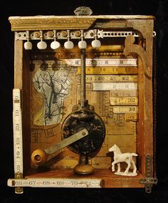 Dianne Hoffman is a San Francisco mixed media artist creating dark, surreal and whimisical collage and assemblage from found and repurposed objects.