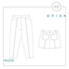 Patron de couture Opian - Pantalon et short Vaulion / Opian sewing pattern - Vaulion trousers and shorts Sewing Blogs, Pdf Sewing Patterns, Print Patterns, Blog Couture, Make Your Own Clothes, Patterned Sheets, Love Sewing, Pattern Making, Trousers