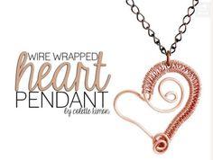 Wire Woven Heart Pendant Tutorials ~ The Beading Gem's Journal