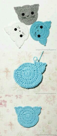 Super cute crochet elephant applique, it is very easy to learn how to create this cutie Crochet Squares, Crochet Motif, Crochet Stitches, Crochet Appliques, Crochet Bunting, Crochet Gifts, Diy Crochet, Crochet Toys, Elephant Applique