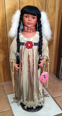 """Gorgeous Tradition Doll Collection  26"""" Indian Porcelain Doll"""