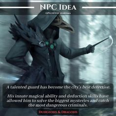 I came up with this idea after reading a prompt for an NPC who had exceptionally magical talents. I thought that having such NPC being… Dungeons And Dragons Characters, D&d Dungeons And Dragons, Dnd Characters, Fantasy Characters, Skyrim, Dnd Stories, A Clash Of Kings, Dungeon Master's Guide, Dnd Classes