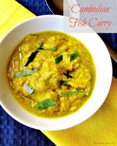 Cambodian Fish Curry Recipe from nomsieskitchen.com A mild curry that is not overly spiced, yet the flavours are not at all compromised. It is also very easy to cook – always a bonus in my books.