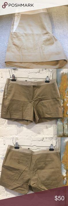 🆕Club Monaco Shorts Brand new...cream trim waist on tan shorts Shorts