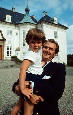 Gloria Ex Amore Patriae:  Prince Consort Henrik of Denmark and his son Crown Prince Frederick-1970s