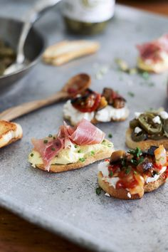 In the Kitchen With: Sarah and Sheila's Pickled Crostini Toppings