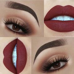 35 Ideen Make-up Looks Lidschatten Lippenfarben - Prom Makeup For Brown Eyes Day Eye Makeup, Shimmer Eye Makeup, Eye Makeup Steps, Skin Makeup, Eyeshadow Makeup, Beauty Makeup, Eyeliner, Eyeshadow Guide, Kylie Makeup