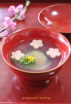 はまぐりと花麩のお吸い物❀昆布出汁で by gingamom [クックパッド] 簡単おいしいみんなのレシピが261万品
