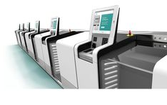 Thanks to its compact design, the be used in tight spaces, like this automated self-check-in at the airport. The features low noise, flame-retardant belts and complies with airport standards for personal safety and fire security. Airport Check In, Personal Safety, Flame Retardant, Belts, Compact, German, Fire, English, Spaces