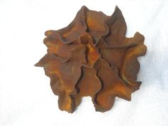 Wall hanging - bisque with rust finish - pottery by Susan Stover
