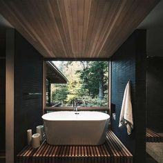 Thoughts on this bathroom? The Bear Stand designed by Bohlin Grauman Miller Bohlin Cywinski Jackson. Ontario Canada - Architecture and Home Decor - Bedroom - Bathroom - Kitchen And Living Room Interior Design Decorating Ideas - Beautiful Home Designs, Beautiful Homes, Modern Bathtub, Modern Bathrooms, Loft Stil, City Living, Living Room, Kitchen Living, Living Spaces