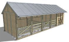 Settler 2 Bay Stable with tack shed