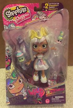Shopkins Shoppies Wild Style Mystabella Unicorn Tribe Limited Edition Chase Doll #Shopkins