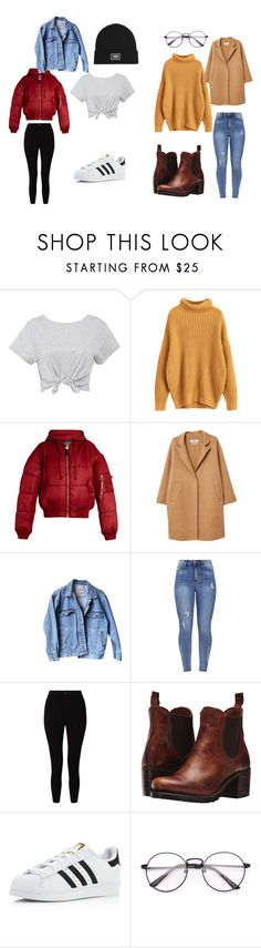 """Basic"" by nickey-mouse on Polyvore featuring Alpha Industries, MANGO, Levi's, Miss Selfridge, Frye, adidas and Vans"