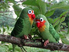 Crochet lovebirds  Family of lovebirds  Safe  by TsvitanaLove