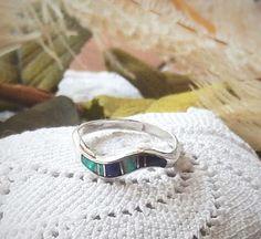 Vintage Navajo Signed Teme .925 Sterling Silver Opal by bijoullery