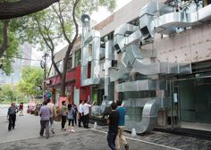 Chinese studio People's Architecture Office has used ventilation pipes to create a typographic installation.