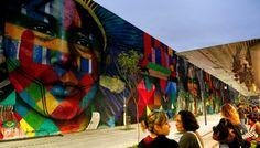 Maior grafite do mundo é do Brasil e vira atração olímpica: veja obra inteira, de 3 mil m² - Vix