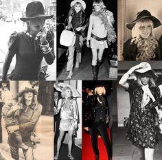 Anita Pallenberg, the queen of boho style. Anita Pallenberg, Patti Hansen, L'wren Scott, Bianca Jagger, Festival Mode, Festival Fashion, Festival Style, Glam Rock, Rock Chic