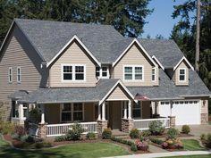 Pewter Gray White Brick Houses Architectural Shingles