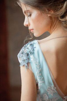Aquamarine wedding dress 'GLENNY' / Light wedding