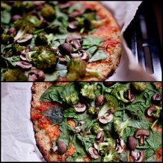 Cauliflower crust & veggies pizza After seeing several recipes like this one from Green Kitchen Stories (which I admire very much), usin...