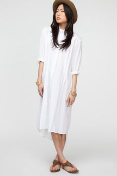 These Versatile White Dresses Are About To Become Your Wardrobe MVP #refinery29  http://www.refinery29.com/46130#slide6  Topshop Unique White Longsleeve Shirt Dress, $260, available at Need Supply.