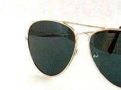 Gold Aviator Sunglasses Frames Vintage 80's Never Worn. $22.00, via Etsy.  LOVE