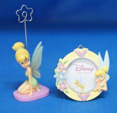 Tinker Bell Kneeling Figurine Photo Clip & Round Picture Frame Disney Enesco | Collectibles, Disneyana, Contemporary (1968-Now) | eBay!