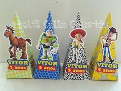 Caixa triangular porta doces toy story | Ateliê Calla Colorida | Elo7